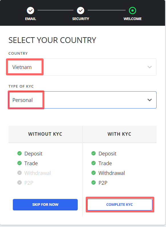 Select your country