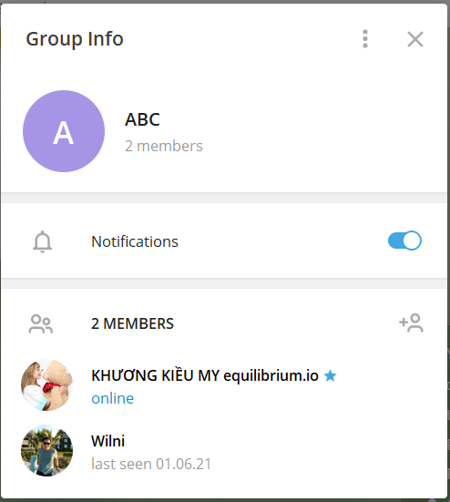 Tạo group, channel